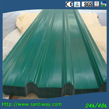 Santiway green color coated metal roof tile sheet