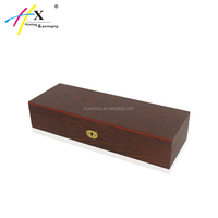 High quality 6 slots watch display and storage box with key lock luxury professional design wood watch box