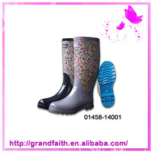 Factory Promotional Cute Printing Fashionable Rubber Safety Boots For Women