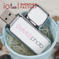 Promotion Gift Leather Case Usb Flash Drive 4g With Custom Logo