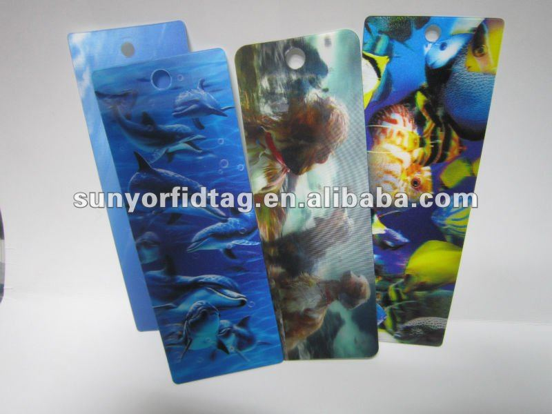 Fast delivery Eco-friendly plastic 3D bookmark