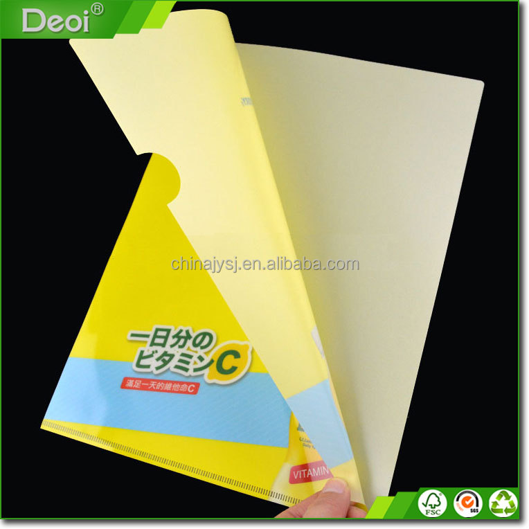 2017 hot sale office flexible plastic A4 paper file folder