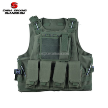 Police tactical vest molle military green gear with pouch