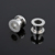 Clear glitter screw on surgical steel ear tunnel ear gauges spacers plugs