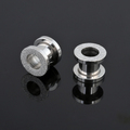High polish stainless steel sandblasted ear flesh tunnel body piercing