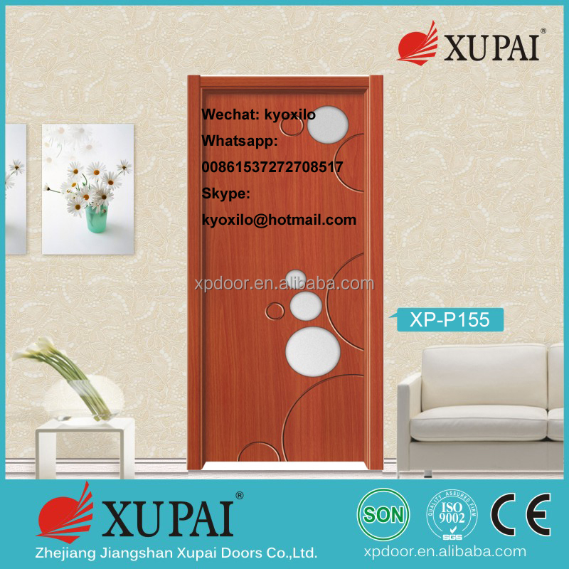 Pvc Door with circal Fog Glass For apartment Interior Door & Windows From jiangshan Manufactuer