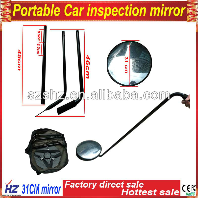 Low price promotion under vehicle checking mirror for safe with LED light