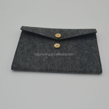 Junyang felt bag grey tote felt bag women 3mm thickness felt bag