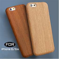 PU Leather Wooden Grain pattern water sticker Mobile Phone Cover for iPhone 6 6S,WholeSale Mobile phone cover for iPhone 6 6S