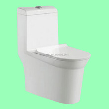 New design white color siphonic china one piece toilet S-trap wc toilet bowl