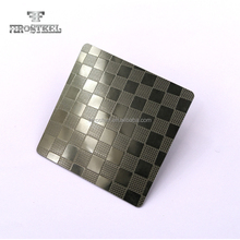 Foshan 316 Embossed Pattern Stainless Steel Decorative Metal Sheet for Wall Panel hotel building