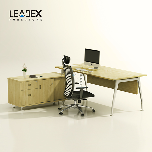 L Shape Executive Office Desk With E1 Particle Board