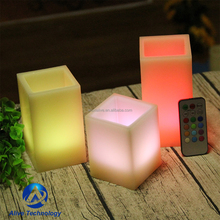 Set of 3 remote control color changing flameless led candle
