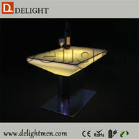 Alibaba hot sale plastic 16 color changing rechargeable commercial cafe bar counters made in china