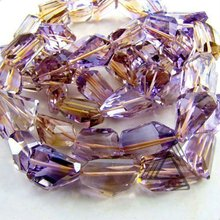 Ametrine Step Cut Nuggets Wholesale Beads Strand, High Quality Natural Precious & Semi Precious Color Gems Stone from Jaipur
