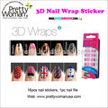 Full Cover Nail Art Wraps 16pcs Bling Nail Stickers French Nail Alibaba Nail Kits Supplies