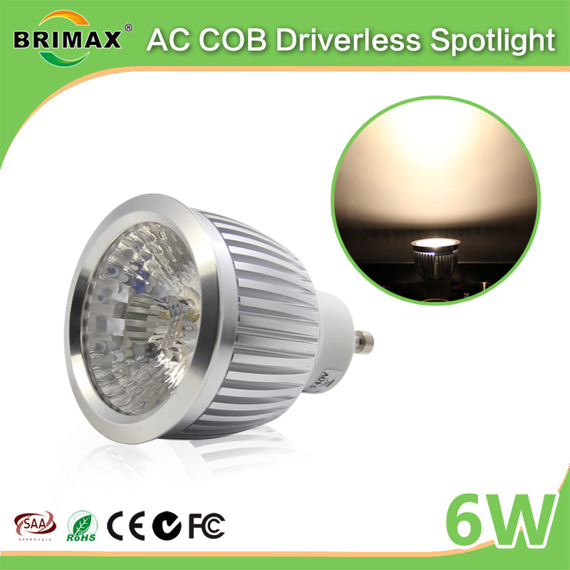BRIMAX china led spotlight bulb,gu10 led COB spotlight price,Driverless light led spotlight gu10