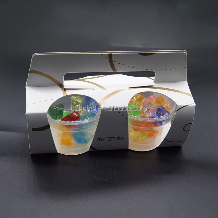 Producing Eco-friendly paper cake packaging cupcake box with plastic cake cup
