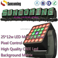 25*12w Led Moving Head xxx China Video Led Dot Matrix Outdoor Display