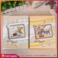 Gift Box Sweet Bear Cover 4x6 Photo Album, Baby Photo Album, Handmade Paper Photo Album