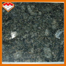 Natural stone polished surface finishing slab dark butterfly green granite