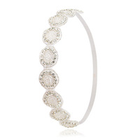 Wholesale handmade hair accessories stretch elastic rhinestone wedding bridal crystal headbands