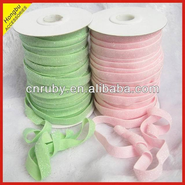 frosted glitter fold over elastic