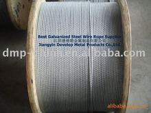 7x7 hot-dip galvanized steel wire rope/steel cable