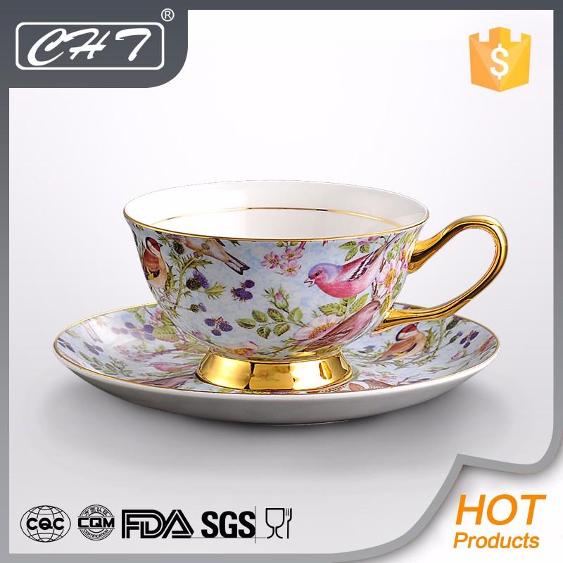Cheap Wholesale 200ml Bone China Bulk Tea Cup And Saucer