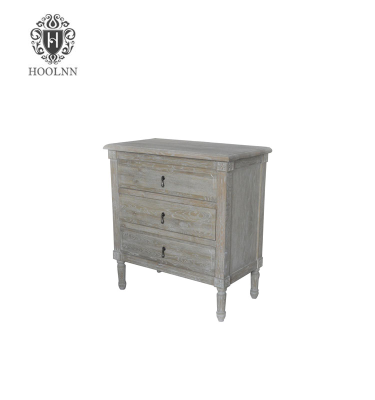 HL132-329 Antique French-style Wooden Furniture Cubes Closed Bed Bedside Cabinet