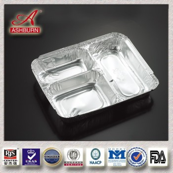 15 years OEM aluminum food container with lids
