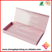 custom cardboard magnet closure cosmetic classy gift boxes