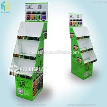 Custom Printing 3 tiers paper nuts display rack for supermarket promotion