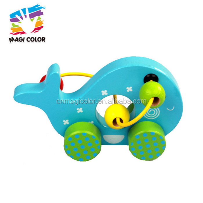 Wholesale Customize Wooden Whale Shape Wire Beads Car Toy For ...