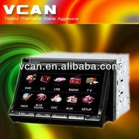 7'' 2 din touch screen LCD panel tv dvd player for car with RDS function support bluetooth DAV-7102-1