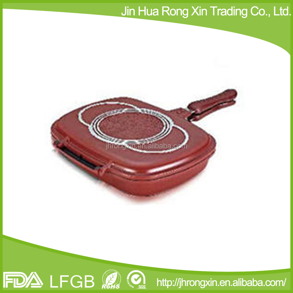 Happy call die casting aluminum double grill pan