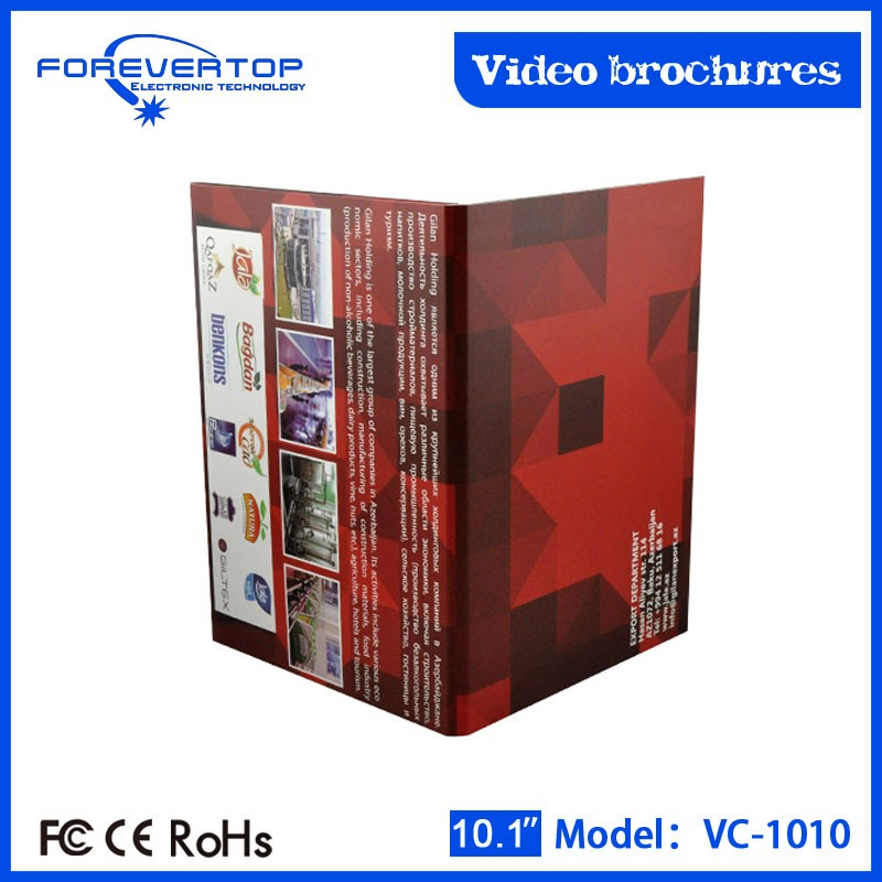 Factory lowest price 10 inch lcd video brochure album