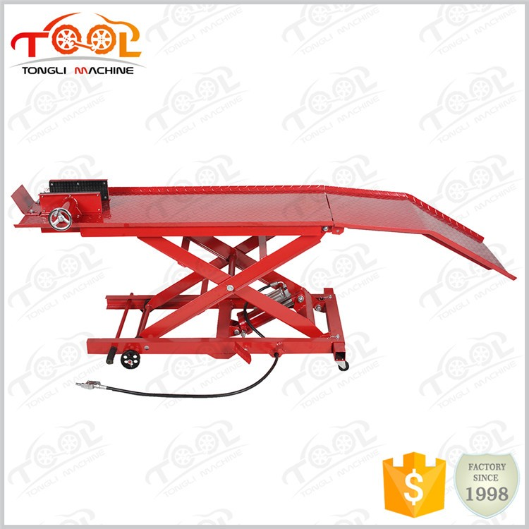 Alibaba Express Professional Manufacture Cheap 800LBS Tl1700-3A Air Motorcycle Lift Table