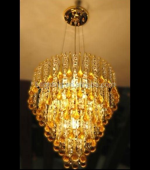 In gold finish luxury vintage pendant light