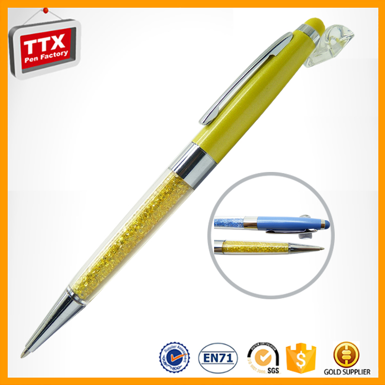 Factory Chinese gold crystal pen