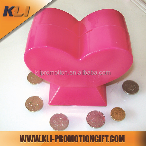 Promotional square plastic transparent saving box money box design
