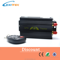 Lexitek GPS SMS tracker TK103B with remote control Free PC version software google maps link real time tracking