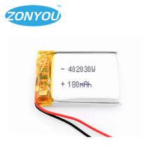 Best sale 3.7v li-polymer battery 402030 battery 180mah for bluetooth headset