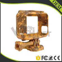 Wholesale Go Pro Hero5 Black Camera Accessories Standard Camouflage Frame Case,Gopros Desert Camouflage Frame