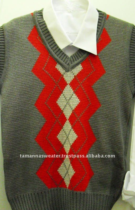 Jacquard Sleeveless Sweater
