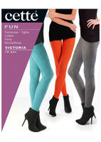 Victoria 70 den patterned tights with diamond pattern