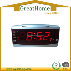 Digital Table Alarm Clock Electronic Calendar Hourly Chime Temperature Clock