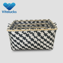 customized handmade nice cheap packing belt bamboo laundry basket