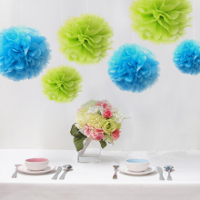 Wedding Decorative Tissue Paper Pom Pom Flowers Ball