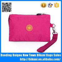 wholesales online washing cotton nylon zip mini wallet for women